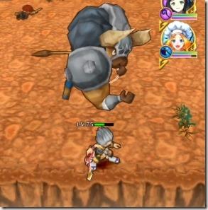 スキル2:斧を振り回した後にブーメランのように投げる