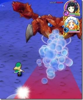 スキル1:前面に泡ブレス攻撃