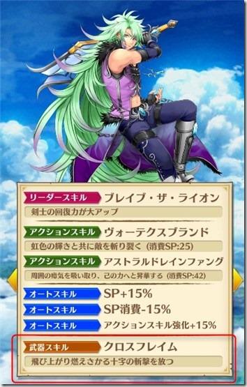 解放された武器を装備したキャラクターによって変わります。