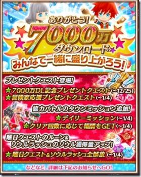 【白猫】7000万ダウンロード記念のタウンミッション報酬一覧