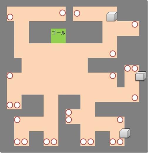 スイッチと宝箱の配置図